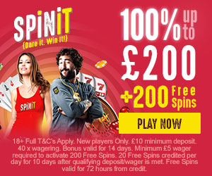 1st deposit spin it casino