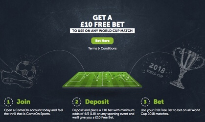 welcome offer ComeOn Sportsbook