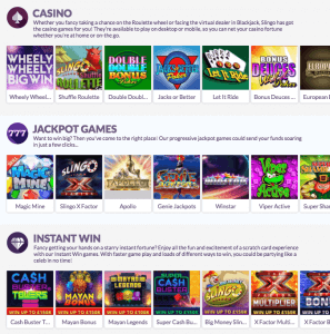 casino games slingo casino
