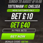 Bet with £10 get £40