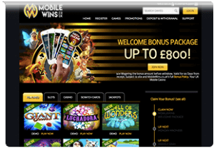 website mobile wins casino