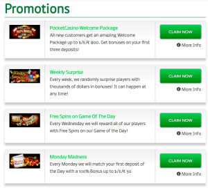 promotions pocket casino eu