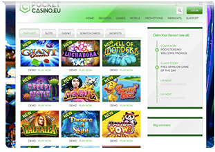 web pocket casino eu