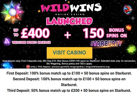 welcome bonus set wild wins casino, WILD WINS NEW BOKU CASINO IN MAY 2018