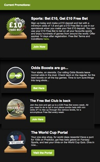 promotions ComeOn Sportsbook