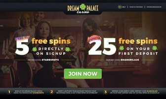 dream palace casino extra spins