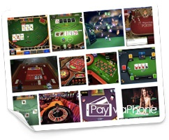 PAY BY PHONE TABLE GAMES