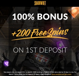 welcome bonus shadowbet casino