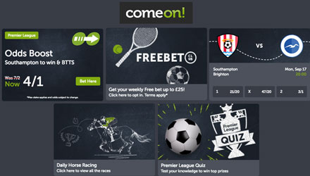 come on sports promotions